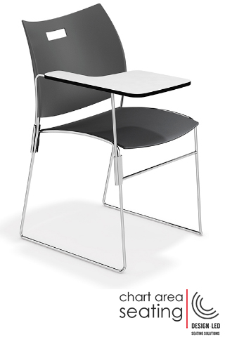 CAS_CARV stackign chair with writing tablet for Covid-19 safe learning spaces schools colleges universities