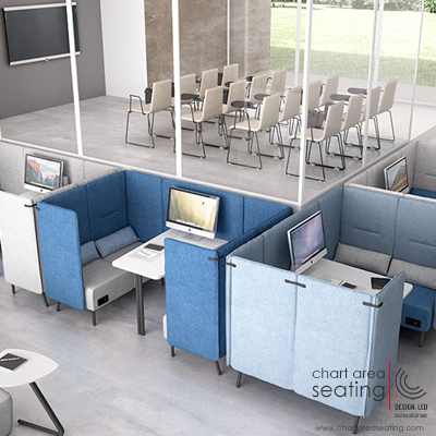 LEY_ARO booths for breakout meetings soft flexible meeting spaces