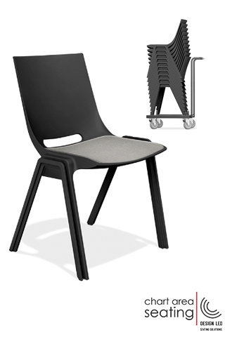 CAS_MONO linking stacking chair for halls churches