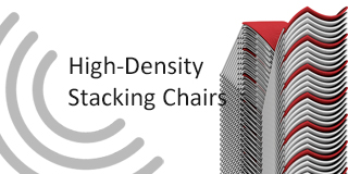 high density stacking chairs
