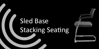 sled base stacking chairs from chart area seating